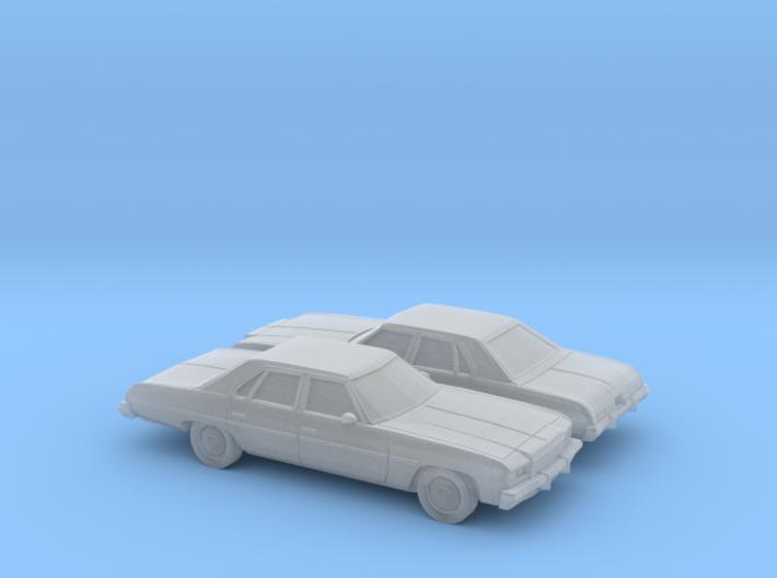 1/160 2X 1976 Chevrolet Impala Sedan 3d printed