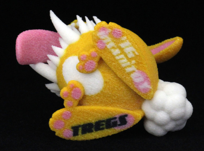 Monster Bunny #3 - Small Eyes 3d printed Bottom- some colors and details may vary from photos