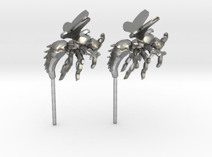 Wasp Stud Earrings 3d printed
