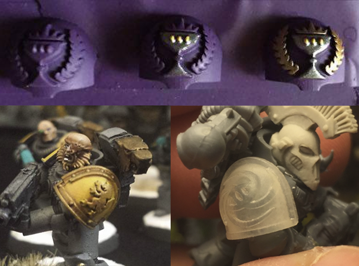 10x Red Hunters - T:1a Terminator Shoulders 3d printed