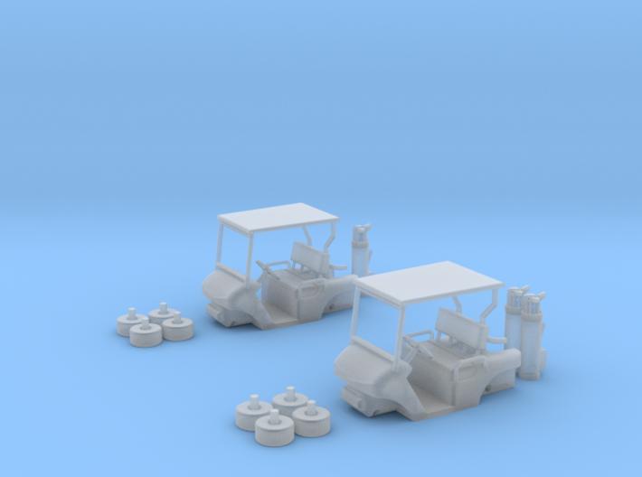 HO/1:87 Golf cart x2 kit 3d printed