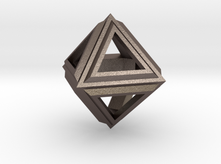 Octahedron Frame Pendant V2 Small 3d printed