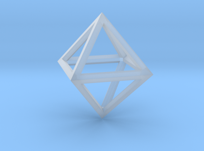 Faceted Minimal Octahedron Frame Pendant 3d printed