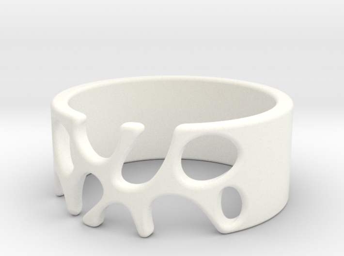 Ring with holes - 20.6 mm / size 11 3d printed
