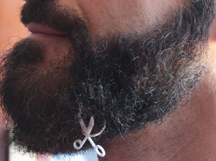 Scissors for beard - lateral wearing 3d printed