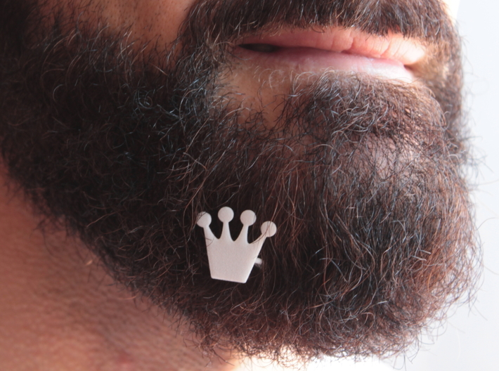 Crown for beard - front wearing 3d printed