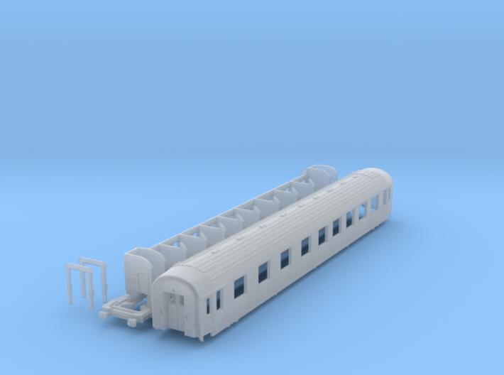 DSB class AB coach N scale 3d printed