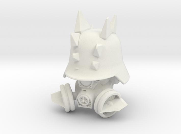 """Steg Helm"" custom 1:6th scale head 3d printed"