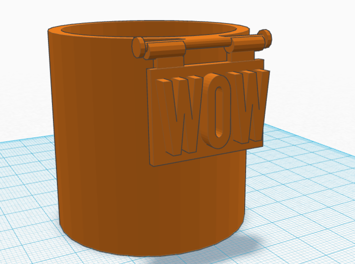 """""""WOW"""" Cup/Pencil holder 3d printed"""