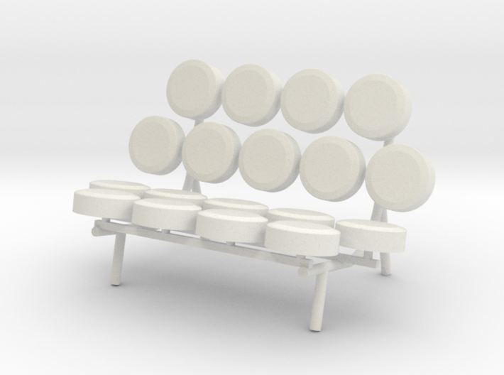 1:24 Nelson Marshmallow Sofa Couch 3d printed