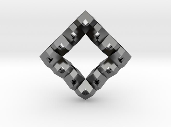 Heart Particle Pendant 3d printed