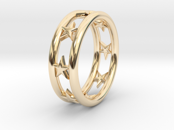 Ring Of Linestars 14.1mm Size 3 3d printed