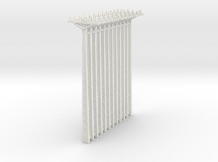 Concrete Powerline 01. HO Scale (1:87) 3d printed