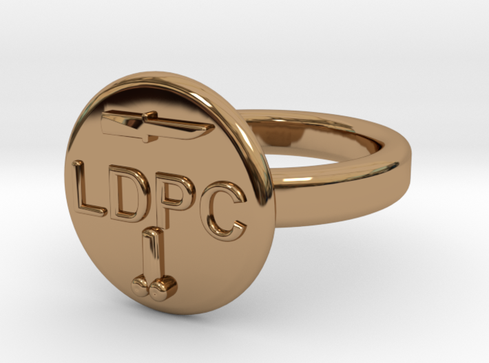 LDPC 19mm 3d printed COMMUNITY OF THE LDPC ENGINEERS BRASS RING