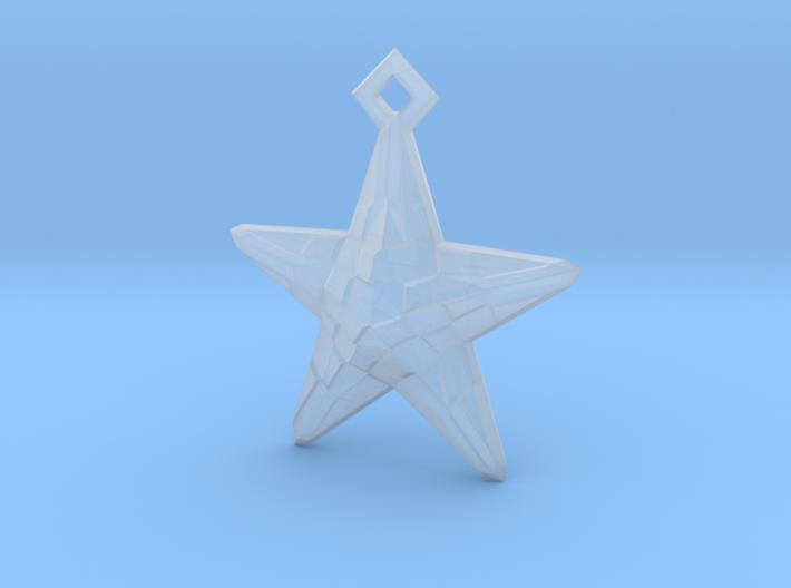 Stylised Sea Star Pendant 3d printed