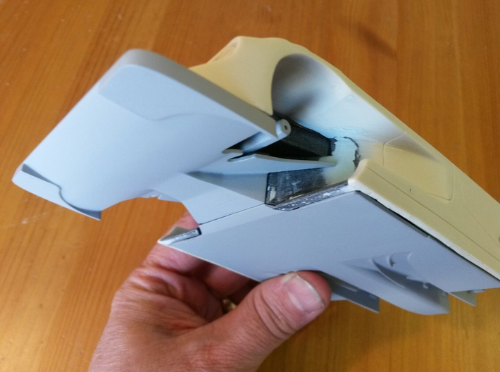 Toyota Eagle MkIII Radiator Inlet Ducts, 1/24 3d printed