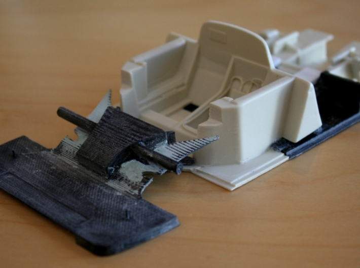 Toyota Eagle MkIII Rear Diffuser, 1/24 3d printed