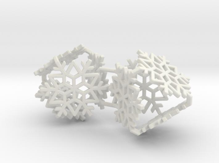 Snowflake Earrings 1 3d printed