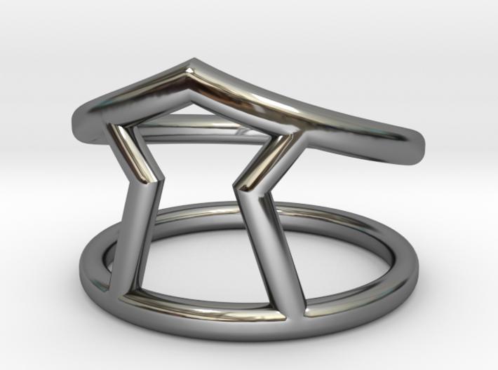 Urgency Ring 3d printed Premium Silver