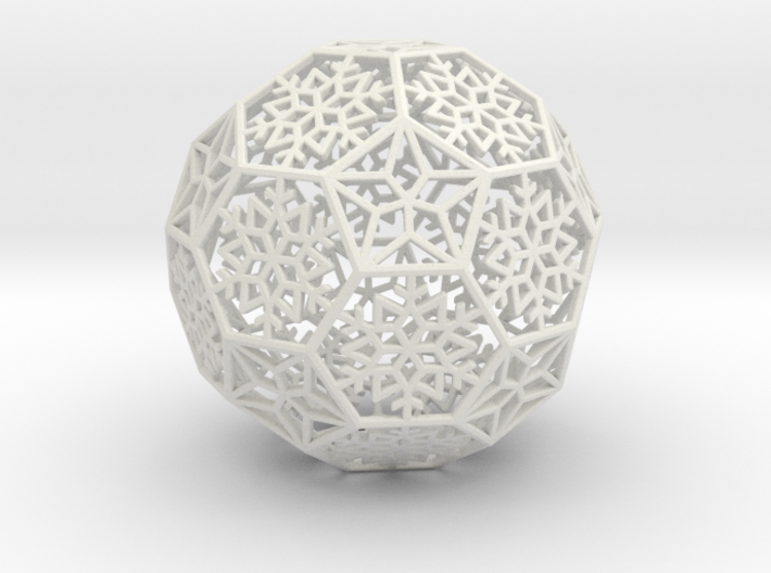 Snowflakes with Stars 1 3d printed