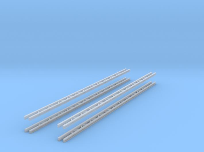 4x Querjoch 3-spurig (N 1:160) 3d printed