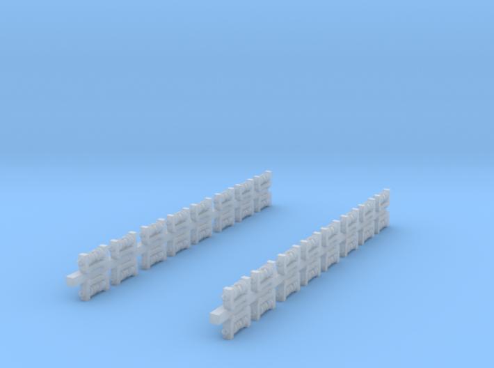 32x Isolatoren für Masten (N 1:160) 3d printed