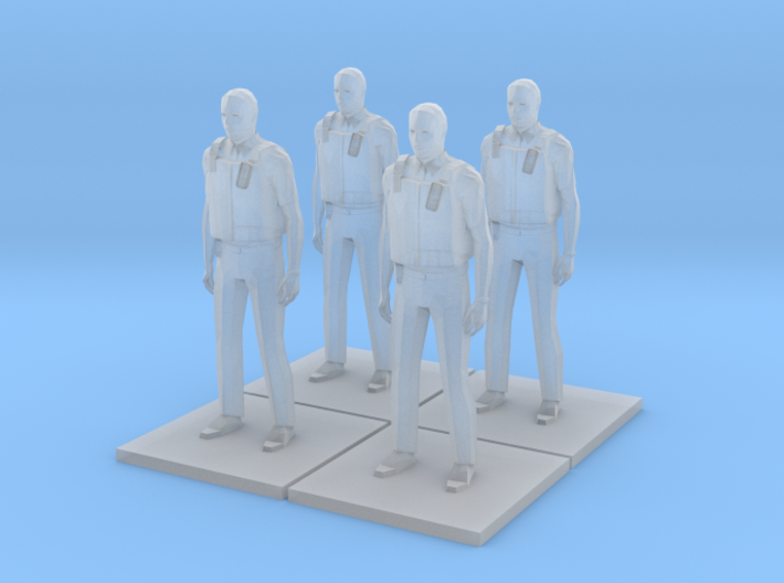 Police Standing x4 HiRez (Summer in Britain), 1/64 3d printed