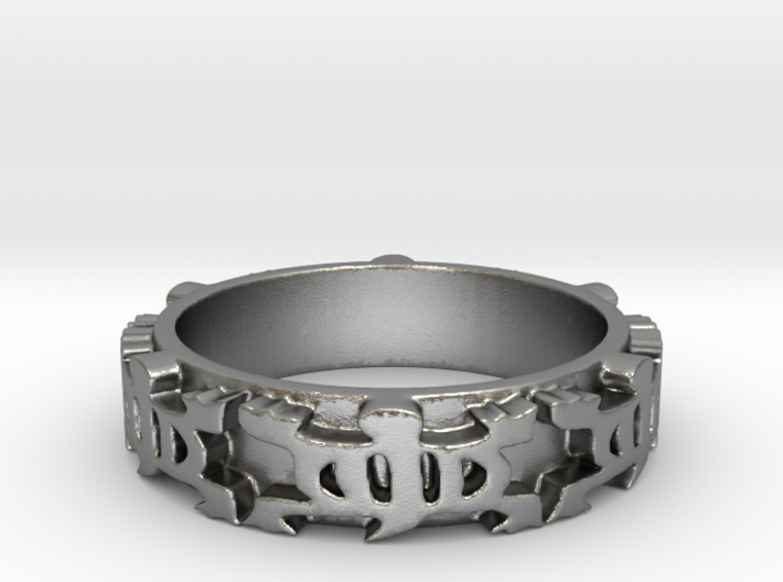 Denkyem Ring Size 7 3d printed