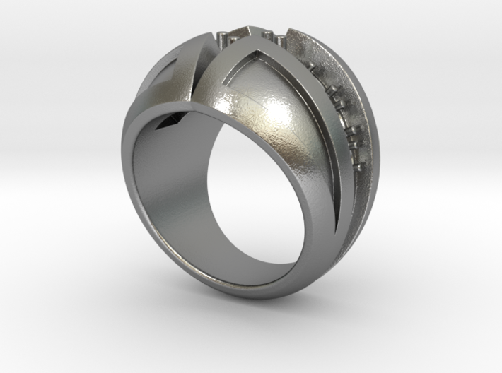 Black Diamond Ring - Size 12 (21.49 mm) 3d printed