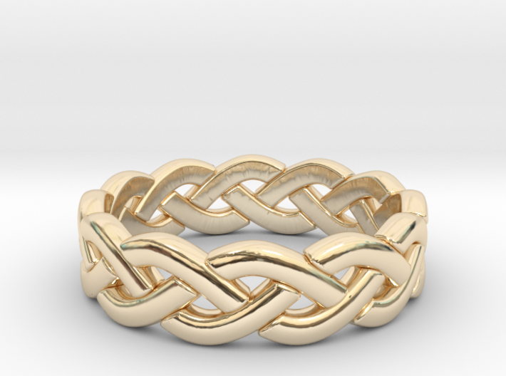 Zig Zag Triple Ring 3d printed