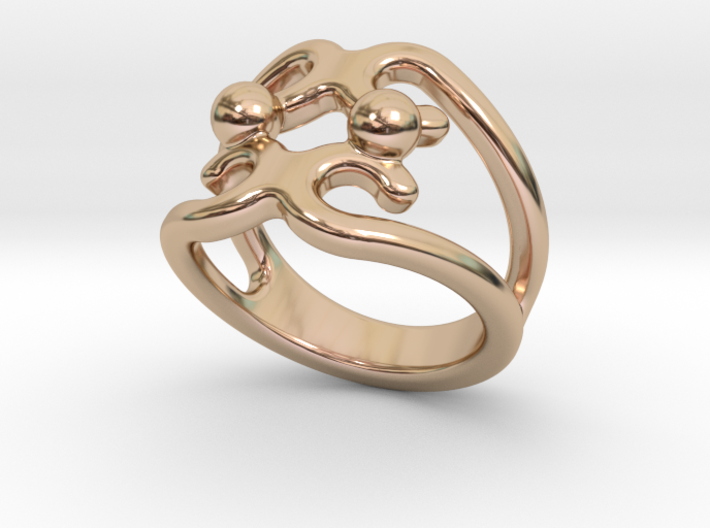 Two Bubbles Ring 14 - Italian Size 14 3d printed