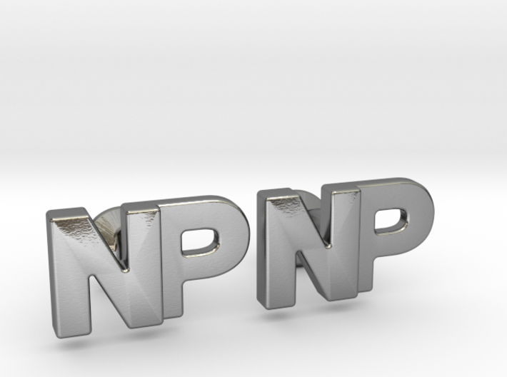 Monogram Cufflinks NP 3d printed