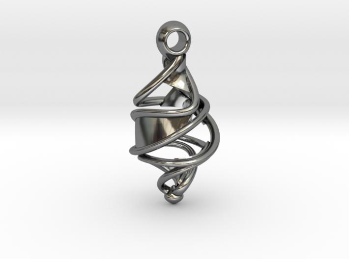 Entangled DNA Pendant 3d printed