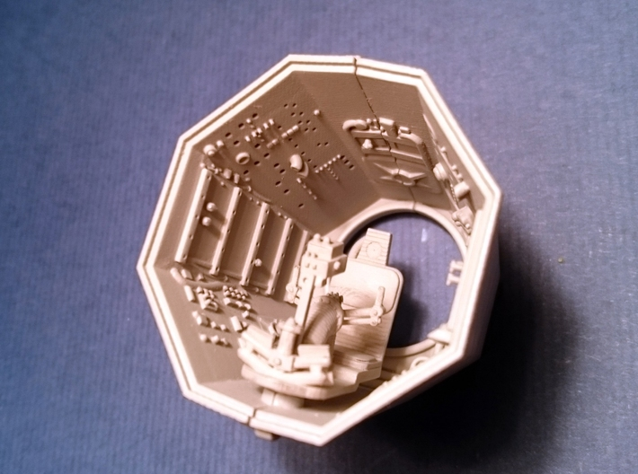 YT1300 DEAGO TURRET WELL STOCK  3d printed DeAgo turret well with gunner seat -sold apart-.