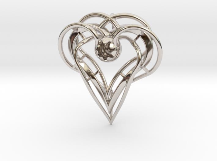 sisters Pendant (semi-precious metal) 3d printed
