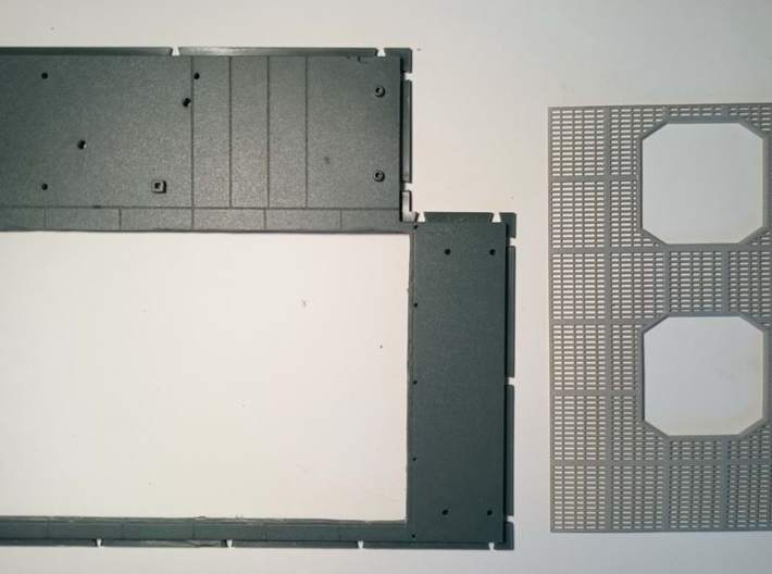 YT1300 DEAGO TFA HALL GRILLE 3d printed How to cut the stock floor to fit the grilles.