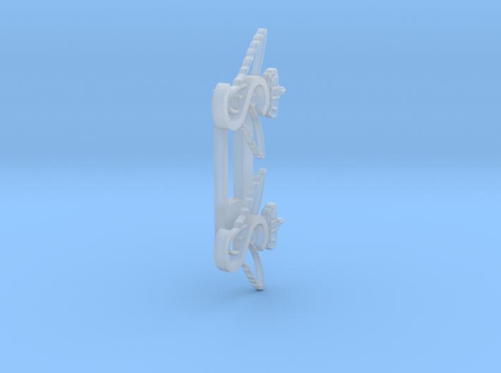 2x S-tog vingehjul til  DSB S-tog skilt (Gammelt l 3d printed