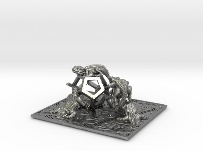 Reptiles & Dodecahedra mini sculpture Fine Art. 3d printed