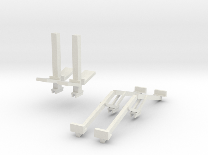 1/64 Double Header Trailer- Header Stands 3d printed