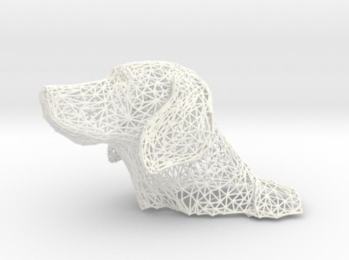 Wireframe Dog head Weimaraner 3d printed