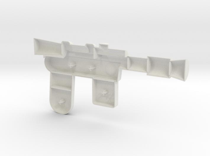 Han Blaster Full Size - (Left Half Only) 3d printed