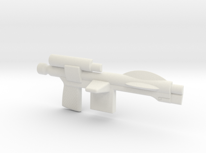 Trooper Blaster Full Size - (Right Half Only) 3d printed