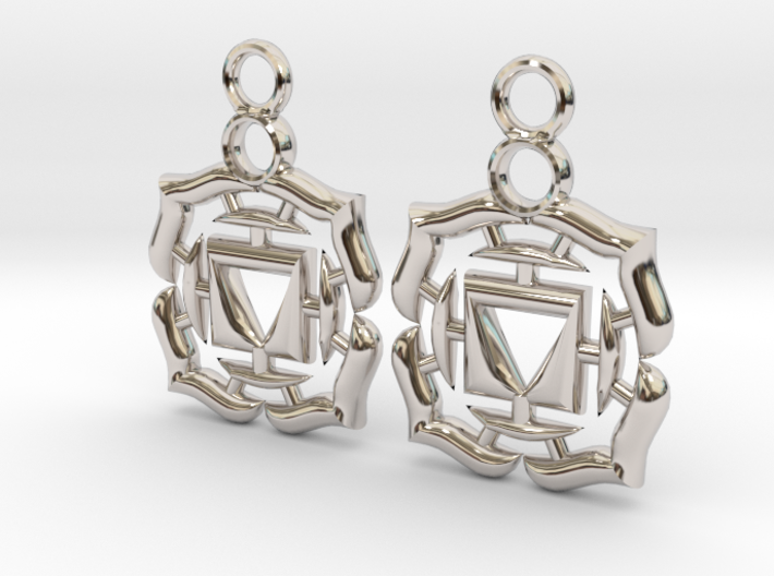 Chakra Muladhara Root Earrings 3d printed