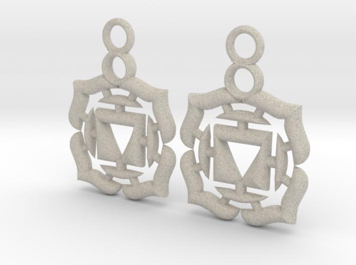 Chakra Muladhara Root Earrings 3d printed