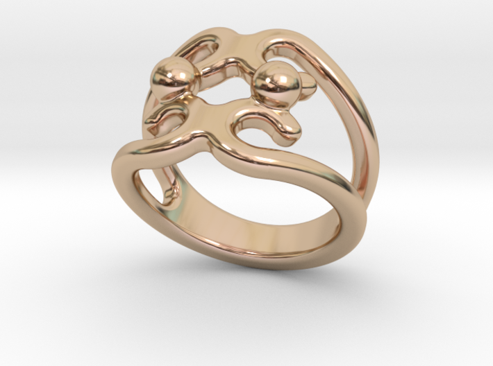 Two Bubbles Ring 15 - Italian Size 15 3d printed