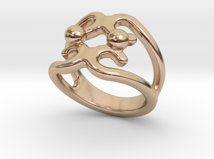 Two Bubbles Ring 17 - Italian Size 17 3d printed