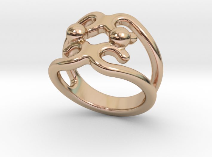 Two Bubbles Ring 22 - Italian Size 22 3d printed