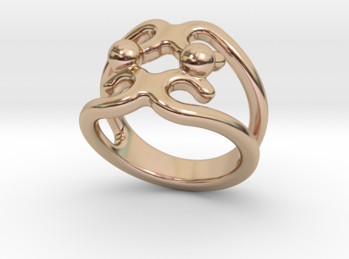 Two Bubbles Ring 25 - Italian Size 25 3d printed