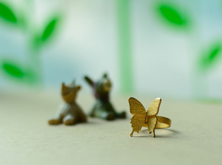 Butterfly-ring Size9 3d printed