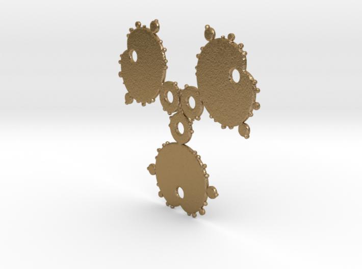Mandelbrot 3 Leaf Out Pendant 3d printed